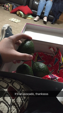 Got some avocados at a white elephant gift exchange Thaanksss