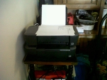 Gotta print a report  for ink cartridges Or  for a new printer that comes with just enough