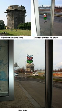 Graffiti that combines with its environment