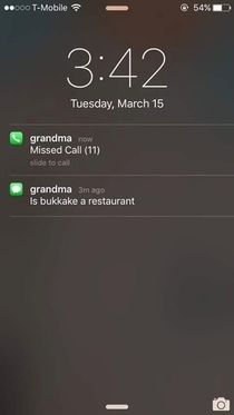 Grandma is a little confused