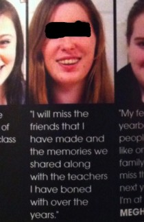 Great high school yearbook typo