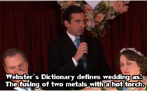 Greatest opening to a wedding speech