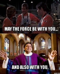 Growing up Catholic and a Star Wars fan