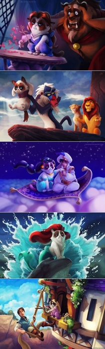 Grumpy Cat Disney Edition