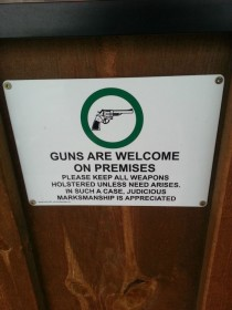 Gun Store eh This sign is at my local Coffee Shop