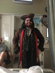 Had my leg amputated and my brother shows up to the hospital dressed as a pirate