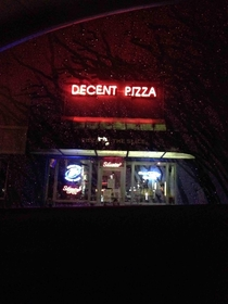 had some pizza last night it was