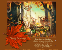 Had to watch a -min forest animation to get to this e-Card from my grandpa