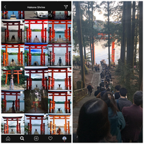 Hakone Shrine in Japan on Instagram vs reality