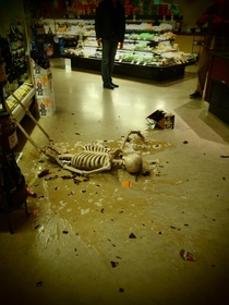 Halloween display fell over