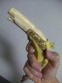 Hand-Carved  caliber Flintlock Banana
