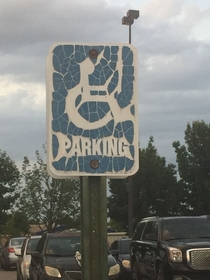 Handicap parking for Metallica fans