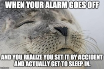 happened to me this morning the accidental alarm