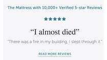 Hard hitting mattress review