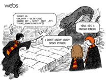 Harry speaks python