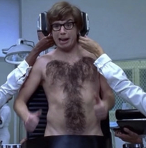 Havent watched this movie in years and am just now noticing Austins chest hair Brilliant