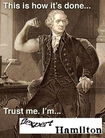 He was certainly the most buff of the founding fathers