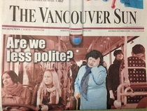 Headline news in Vancouver BC this morning
