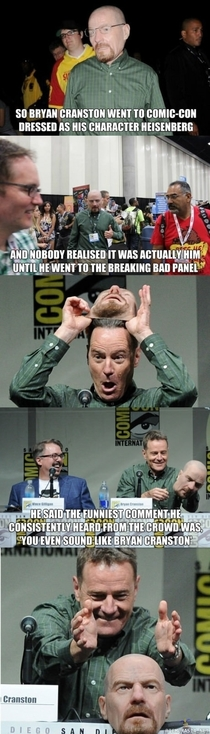 Heisenberg goes to comicon