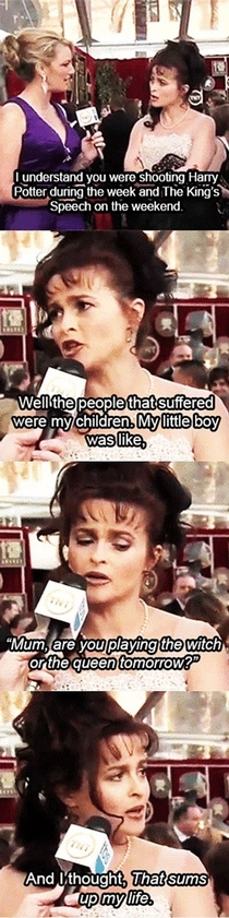 Helena Bonham Carter is amazing