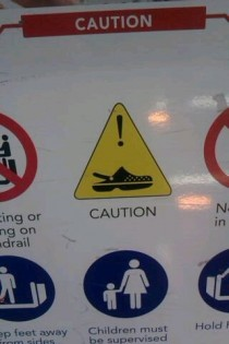 Here in Australia we even have to be wary of crocs in shopping centres
