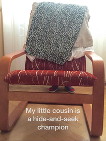 Hide-and-seek with kids is always interesting