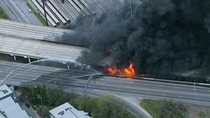 Highway in Georgia I- collapses and catches on fire Now nicknamed Highway to Hell