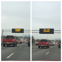 Highway sign on  south in Medford mass