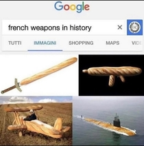 Historically accurate french weapons