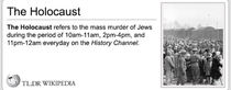 History channel and the holocaust
