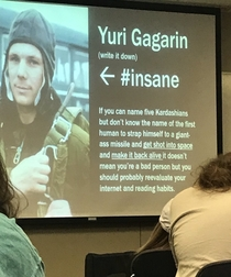 History professor teaches about the first man in space