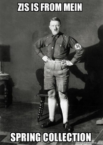 Hitler in shorts
