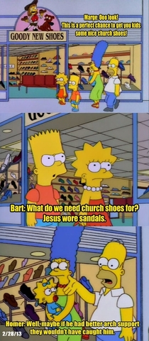 Homers thoughts on Jesus