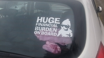 Honest bumper sticker