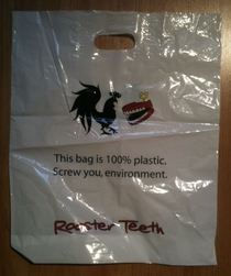 Honest plastic bag