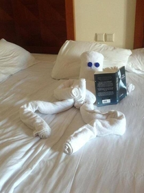Hotel staff found Fifty Shades of Grey book on guests side table