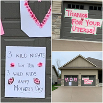 House down the street knows how to celebrate Mothers Day