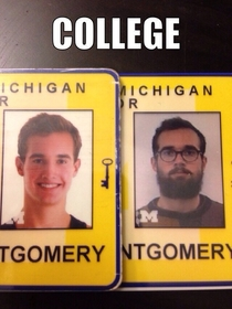 Housemate just replaced his student ID from freshman year Sent me this