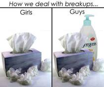How guys and girls deal with breakups