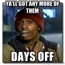 How I feel coming back to work after the holidays