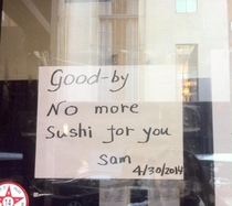 How I found out my favorite Sushi place had closed