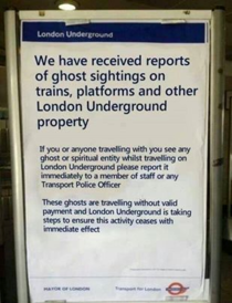 How London deals with ghosts