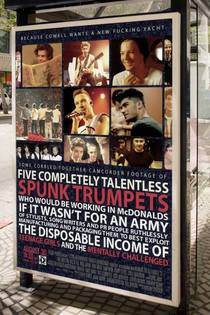 How One Direction are being advertised on the streets of Cardiff Wales