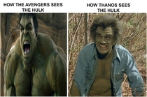 How The Avengers sees The Hulk vs How Thanos sees The Hulk