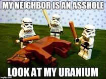 My neighbor is an asshole