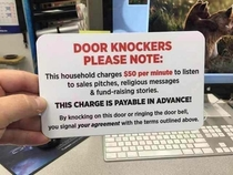 How to stop anyone from knocking at your door