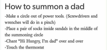 How to summon a Dad
