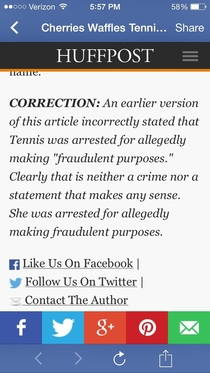 Huffpost fixes mistake makes same mistake in Correction