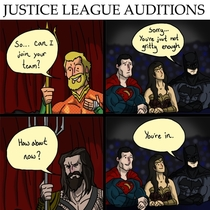 HUMOR Justice League tryouts by Datjiveturkey