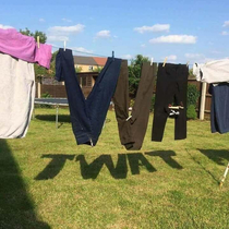 Hung the washing out Boss